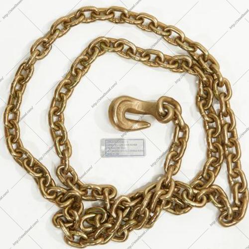 زنجیر یکسر قلاب کج طلایی