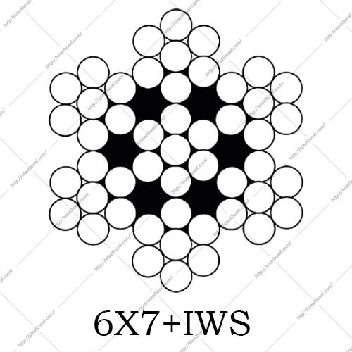 سیم بکسل مهاری 6X7+IWS